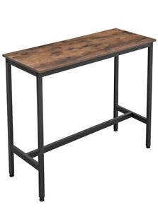 VASAGLE ALINRU Dining Table, Steel Frame Bar Table, Multifunctional Desk for ...