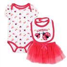 NWT 3PC Baby Girl LadyBug One Piece Bib and Tutu Skirt - 0/3M, 3/6M, 6/9M