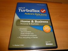 For FEDERAL Return. LOOK *Genuine CD* 2013 TURBOTAX HOME & BUSINESS CD TURBO TAX