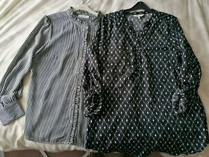 Two Ladies Size 16 Long Sleeve Tops / Blouse - Oasis & Peacocks