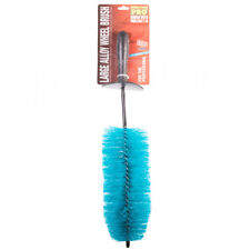 Large Long Reach Car Alloy Wheel Tyre Cleaning Brush Valeting Soft Bristles Trim