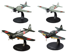 Set of 4 Japan Aircrafts Mitsubishi WW2 1:72 Military plane diecast DeAgostini