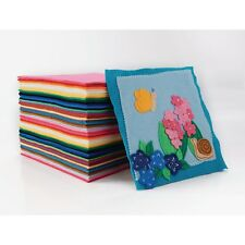 Felt, Felt Sheets, Wool Blend Craft felt, Pack of 50 squares 230x230mm