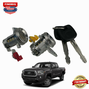 Front Door Lock Cylinder Driver&Passenger Kit With Keys For Toyota Tacoma 95-04