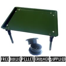 Hameçons Table Avec Extensible Jambes Pour La Carpe Free Bait Crusher fourni
