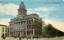 1907-1915 Printed Postcard; Court House, Indiana PA, Indiana County posted