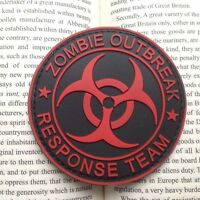 New ZOMBIE HUNTER OUTBREAK RESPONSE TEAM 3D PVC TACTICAL BIOHAZARD PATCH