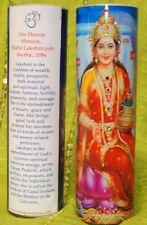 Lakshmi Goddess of Wealth Mantra Meditation Candle embellished with Swarovski Cr