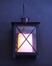 PREMIER 21cm METAL LANTERN WITH FLICKERING LED CANDLE LB122624 (BATTERY) (3602)