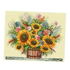 Cross Stitch Embroidery Kits DIY Needlework- Sunflower(Stamped) 11CT 57x49cm