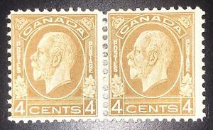 Canada stamp Scott #198 Pair MH Fine, Gum Crease On One Stamp, Good colors perfs