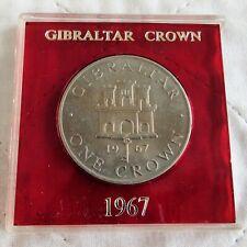 GIBRALTAR 1967 CROWN - in spink case