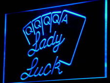 "16""x12"" i830-b Lady Luck Poker Game Casino Wall Decor LED Neon Signs"