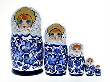 5 Poupées russes H16,5 peinte main Matriochka Gigognes Russian Doll Matrioshka