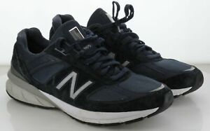21-40 MSRP $174.99 Men's Size 10 New Balance 990V5 Navy Blue Mesh Running Shoe