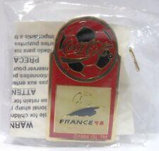 Coca-Cola - FRANCE '98, WORLD CUP - PINS attacco bottone a innesto-con ALLEGATO