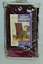 Sure Fit  Dining Chair Skirted Slipcover Scroll