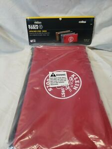 Klein Tools 5141 Zipper Bags, Canvas Tool Pouches Brown/Black/Gray/Red, 4-Pack