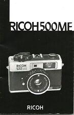 Ricoh 500ME Original Instruction Book
