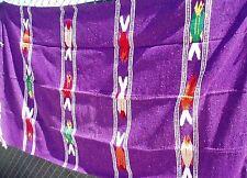 Mexican Blanket Throw Fish Southwestern 79 X 50 Purple New Fb003