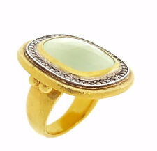 GURHAN Pale Green Chalcedony and Diamond Ring in 24k Gold  - HM1825