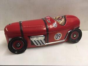 Silver Crane Company Classic Racecar Biscuit Tin *Rare*