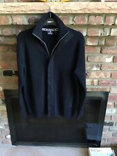 NAVIGARE ~ Black Full Zip And Button Sweater Jacket ~ Men's XL -