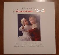 Classic American Dolls First Day of Issue Commemorative Program
