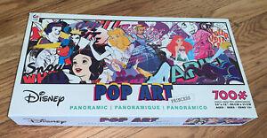 "Disney Pop Art Princess 700 piece Panoramic puzzle 34"" X 12"" In box"