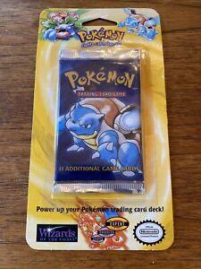 1999 Pokémon Base Set Blister Booster Pack  - Blastoise - New See Description
