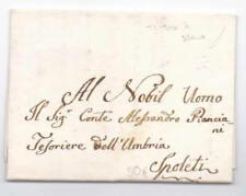 Prefilatelica prephilatelic 1795 da Roma per Spoleto