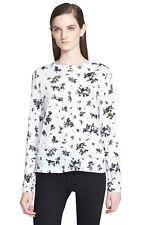 NWT $290 PROENZA SCHOULER Print Tissue Jersey Long Sleeve Top [SZ Large] #R896