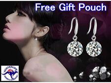 NEW ARRIVAL Elegant Silver Hook Drop Dangle Earring Zircon Crystal Girls Women