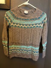 "Girls ""Justice"" Sweater, size 10, Grey, Blue & Aqua"