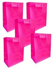 5 PINK MATT LAMINATED MEDIUM BAGS ~ GIRLS LUXURY BIRTHDAY PRESENT PARTY GIFT BAG
