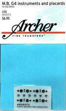 Archer 1:35 M.B G4 Instruments and Placards for ICM Dry Transfer #AR35373