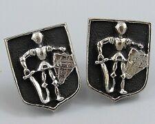 Armor Sword Shield Costume Jewelry O80 Mens Vintage Cufflinks Knight In Shining