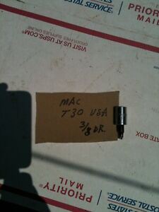 "MAC TOOLS 3/8"" DRIVE t30 torx Socket  SAVE $$ usa made nice"