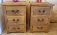 A PAIR OF NEW SOLID WOOD BEDSIDE END CHESTS CABINETS RUSTIC PLANK PINE FURNITURE