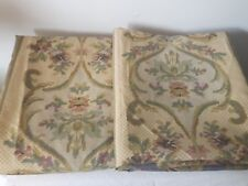 VTG pair WAMSUTTA SPRINGS rod pocket panels floral country french chic USA