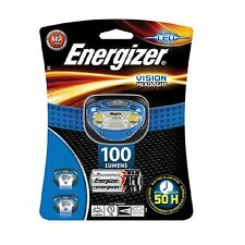 Energizer Vision 100 Lumens Super Bright Headlight & 3x AAA Batteries Brand New
