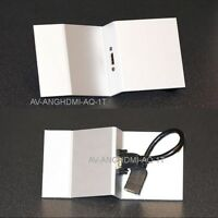 Angled AV Floor Box Plate, HDMI, for Mita 3-compartment floor box, 173mm x 87mm