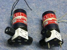 Lot of 2 MACE 802-0646A Solenoid Valve 20 Psig 15 VDC 5 Watts