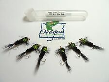 BeadHead Montana Lime # 8, 6 Fly, FREE shipping All Additional items