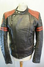 VINTAGE 80's Distressed M LEATHERS Motorcycle Punk PERFECTO Size S