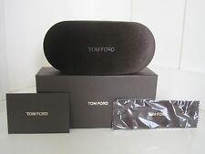 Tom Ford Brown Velvet Sunglass Eyeglass Case Kit Elegant Designer Travel Gift