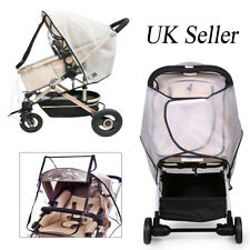 Universal Clear Rain Cover w/ Double Zip for Pushchair Pram Buggy Baby Stroller