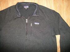 Patagonia Men's Better Black/Gray Sweater Fleece Full Zip Jacket Size XLarge