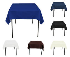 """TulleShop 70"""" x 70 Inch Polyester Square Overlay Tablecloth Table Cover Wedding"""