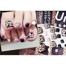 Lovely False Toe Nails Natural Full Style Plastic Nail Art Nails Glue